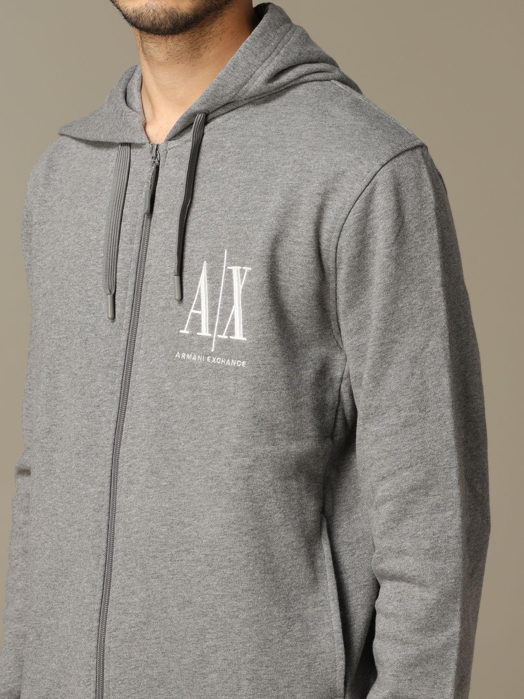 Sweatshirt herren Armani Exchange grau 3