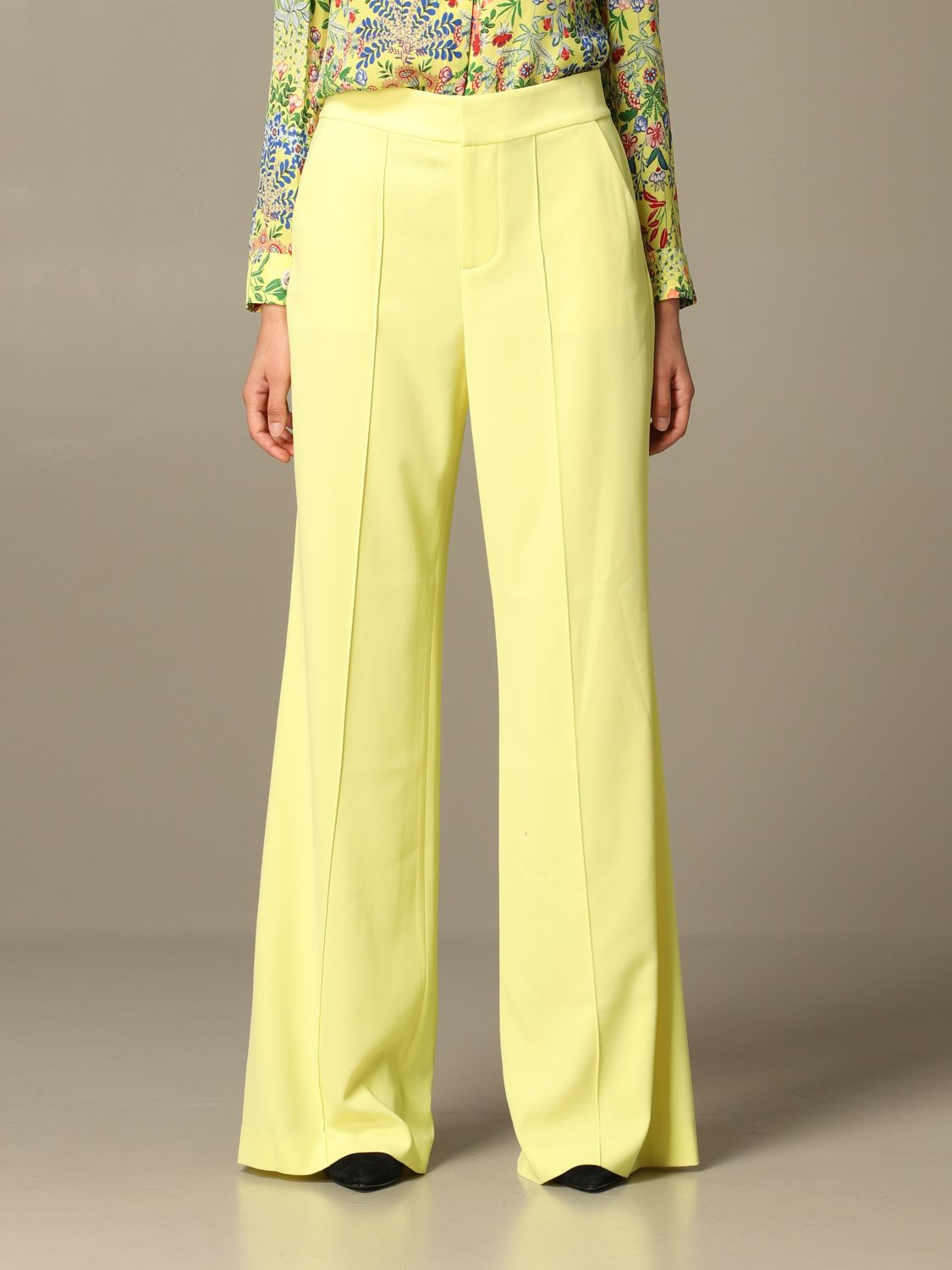 Trousers Alice+Olivia: Trousers women Alice+olivia yellow 1
