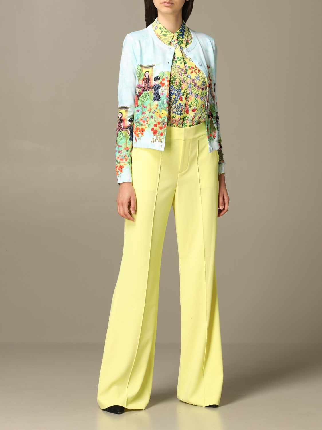 Trousers Alice+Olivia: Trousers women Alice+olivia yellow 2