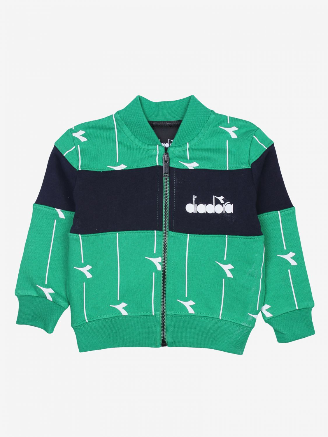 Sweater kids Diadora green 1
