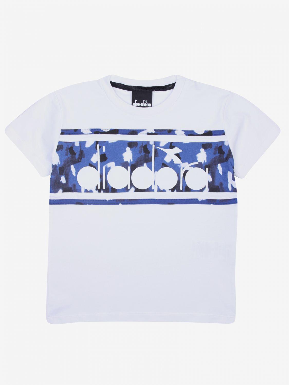 T-shirt kinder Diadora weiß 1