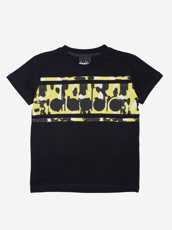 T-shirt kinder Diadora schwarz 1