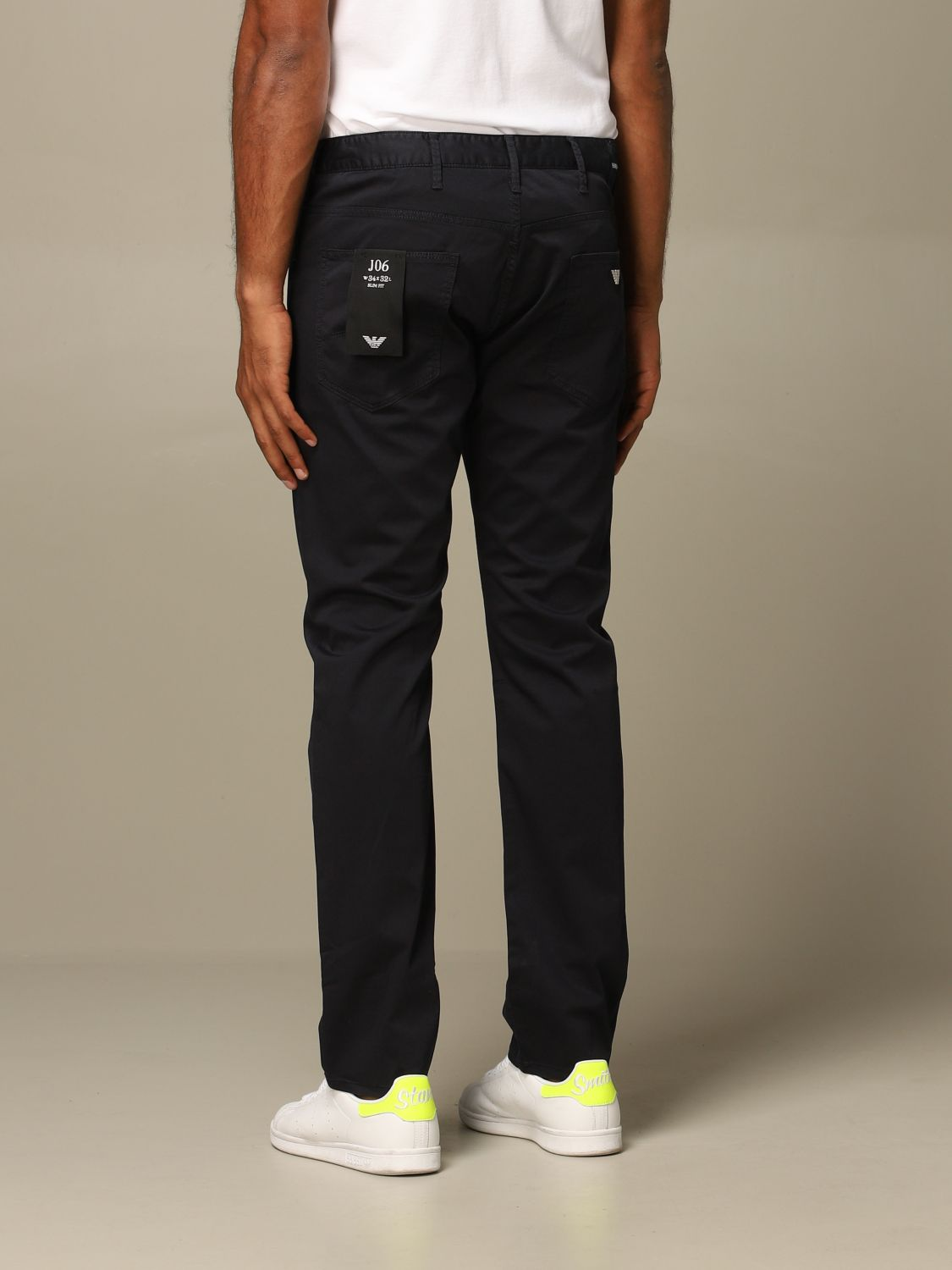 Pants Emporio Armani: Emporio Armani regular-waisted trousers navy 2
