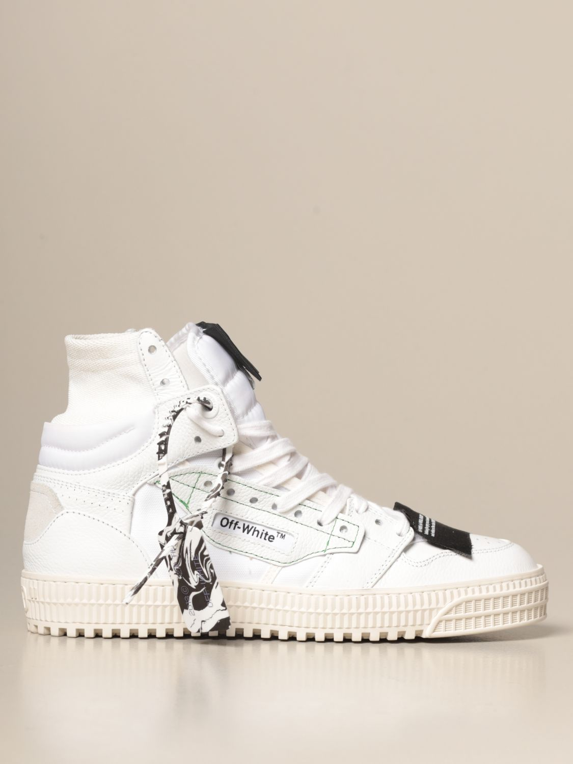 Off White sneakers in nylon nubuck and