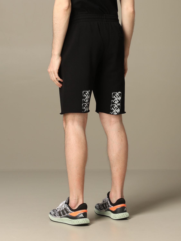 Short Off White: Off White jogging bermuda shorts with logo white 2
