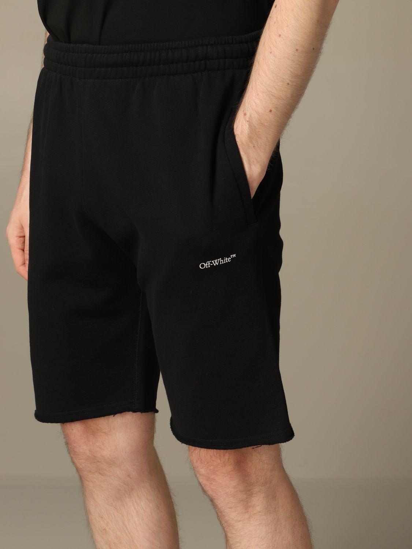 Short Off White: Off White jogging bermuda shorts with logo white 3