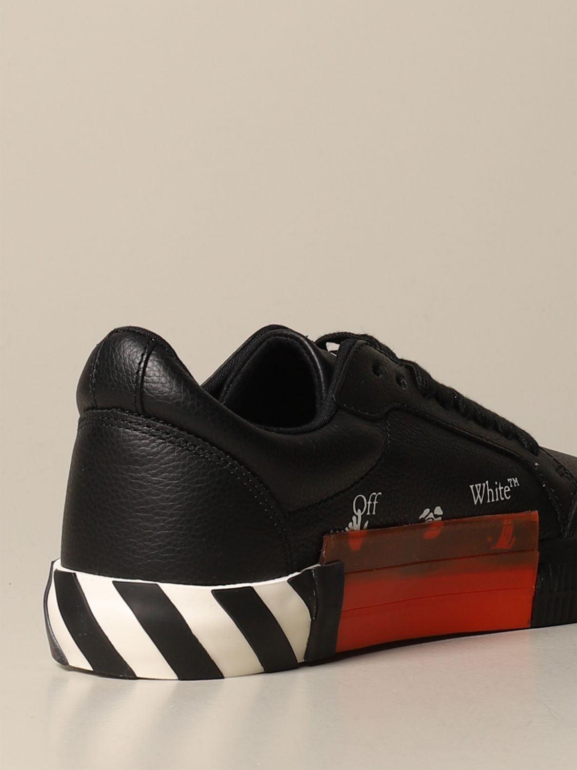 Sneakers Off White: Off White leather sneakers with maxi arrow black 3