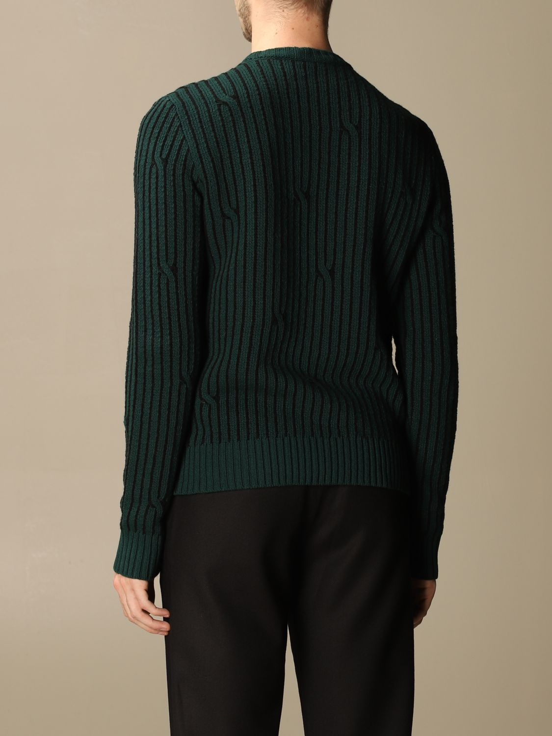 Sweater Off White: Off White men's sweater green 2
