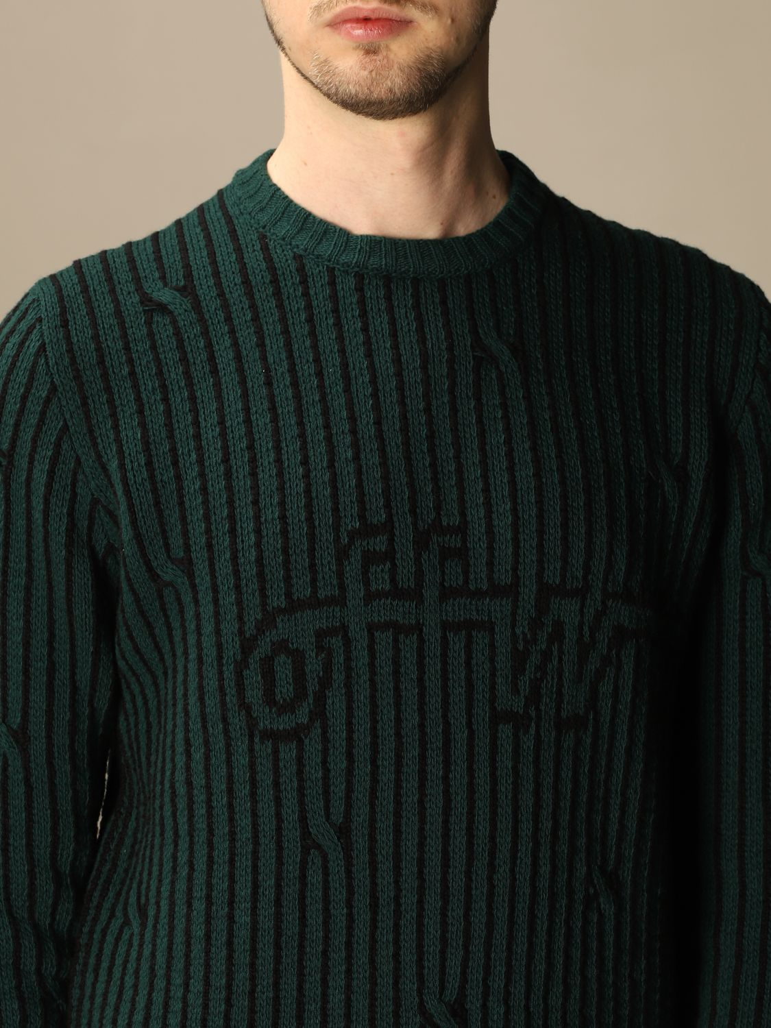 Sweater Off White: Off White men's sweater green 4