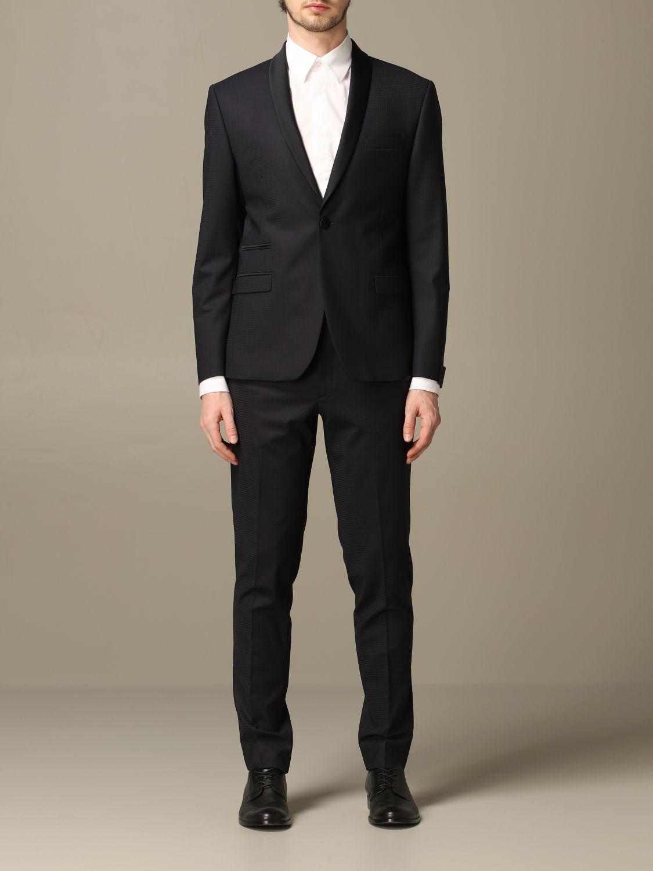 Классический костюм Alessandro Dell'acqua: Классический костюм Мужское Alessandro Dell'acqua синий 1