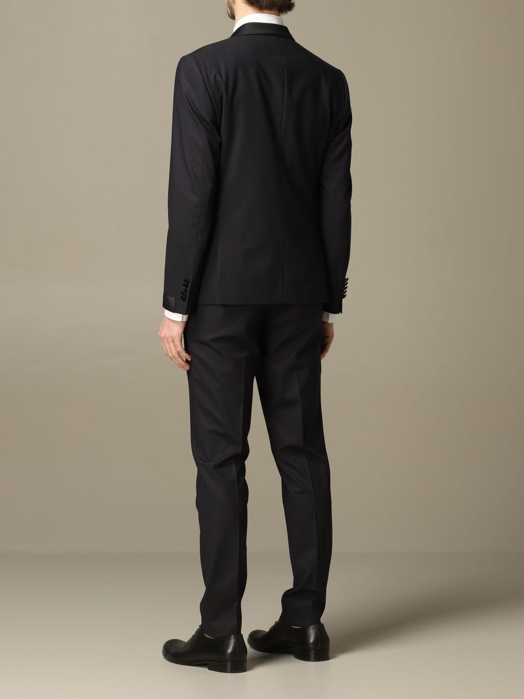 Классический костюм Alessandro Dell'acqua: Классический костюм Мужское Alessandro Dell'acqua синий 2