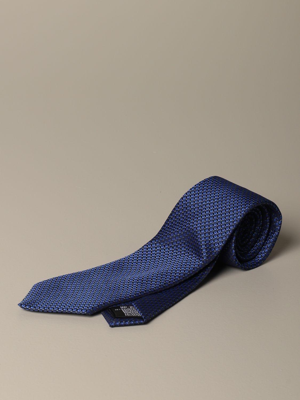 Cravatta Alessandro Dell'acqua: Cravatta Alessandro Dell'acqua a micro fantasia blue navy 1
