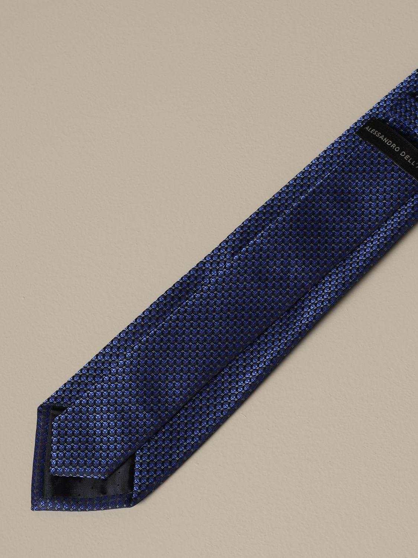 Tie Alessandro Dell'acqua: Alessandro Dell'acqua micro pattern tie navy 2