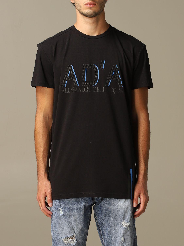 Maglia Alessandro Dell'acqua: T-shirt Alessandro Dell'acqua con logo nero 1