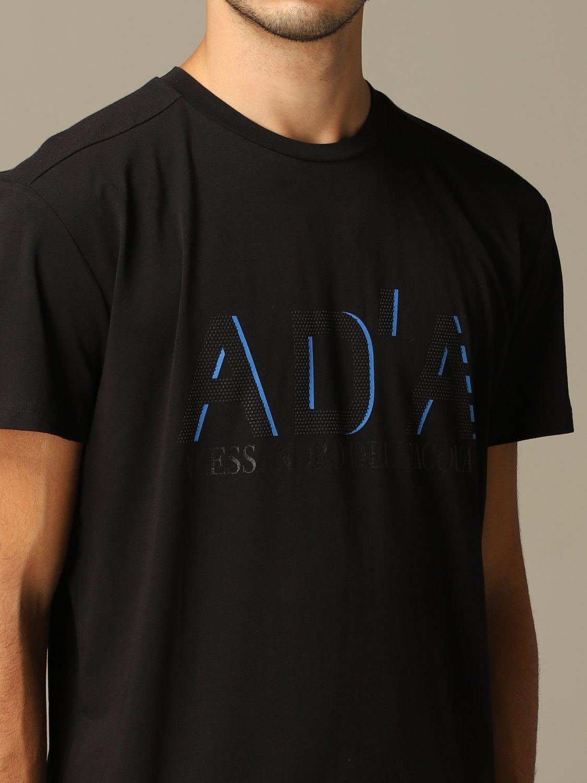 Maglia Alessandro Dell'acqua: T-shirt Alessandro Dell'acqua con logo nero 3