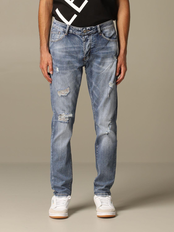 Jeans Alessandro Dell'acqua: Alessandro Dell'acqua denim jeans with breaks navy 1