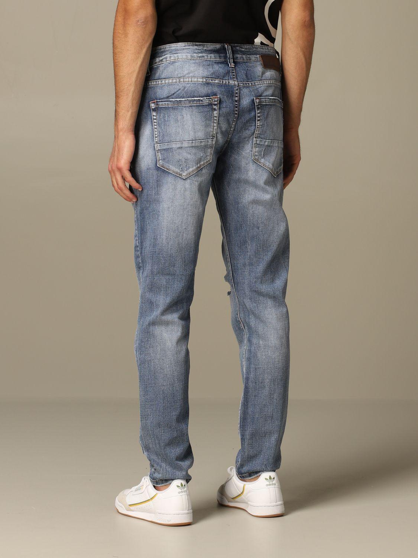 Jeans Alessandro Dell'acqua: Alessandro Dell'acqua denim jeans with breaks navy 2