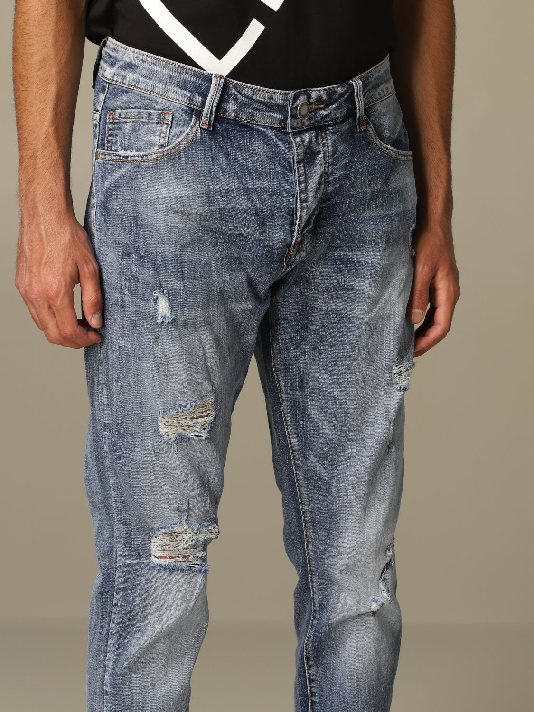 Jeans Alessandro Dell'acqua: Alessandro Dell'acqua denim jeans with breaks navy 3