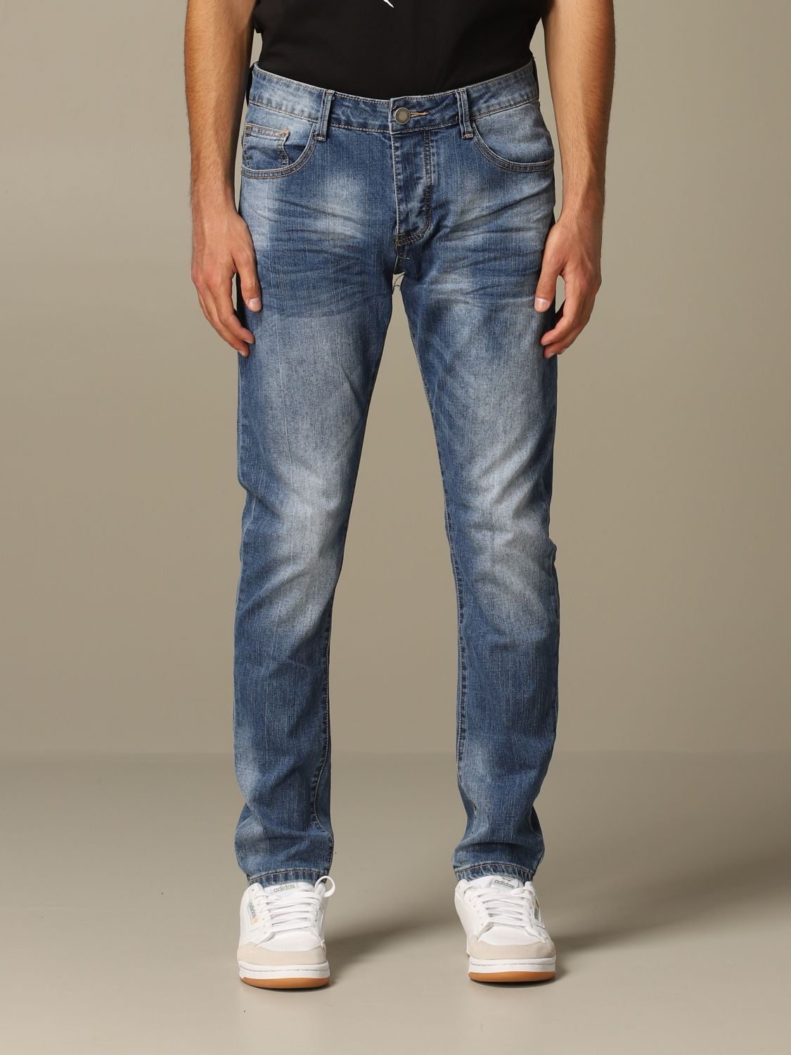 Jeans Alessandro Dell'acqua: Dondup jeans in used denim blue 1