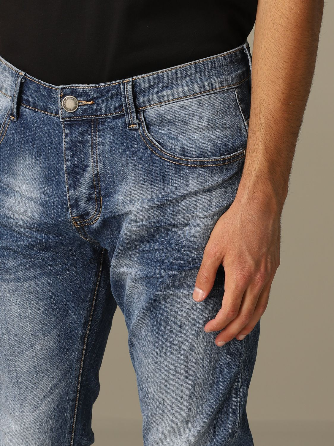 Jeans Alessandro Dell'acqua: Dondup jeans in used denim blue 3