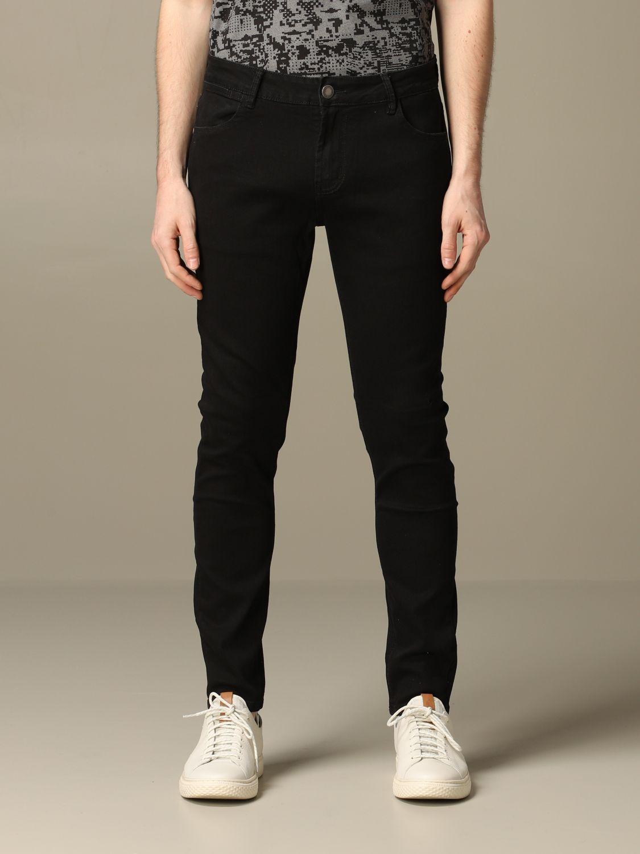 Jeans Alessandro Dell'acqua: Jeans Alessandro Dell'acqua in denim scuro nero 1