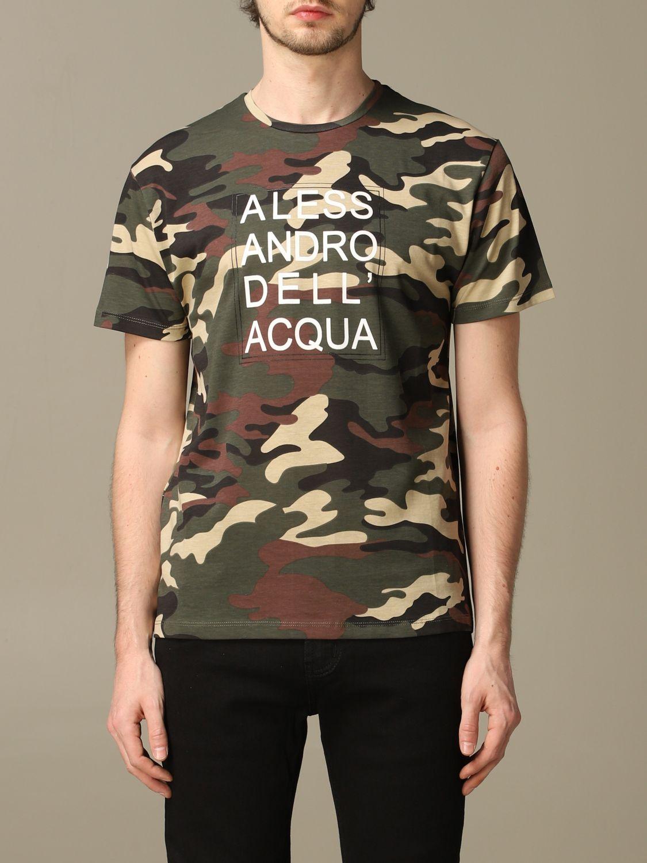 Sweater Alessandro Dell'acqua: Alessandro Dell'acqua camouflage t-shirt with logo green 1