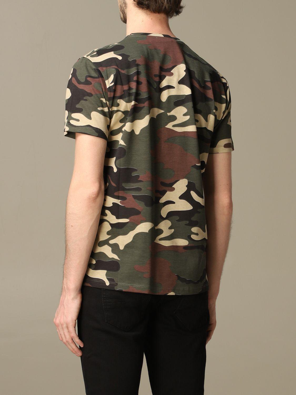 Sweater Alessandro Dell'acqua: Alessandro Dell'acqua camouflage t-shirt with logo green 2