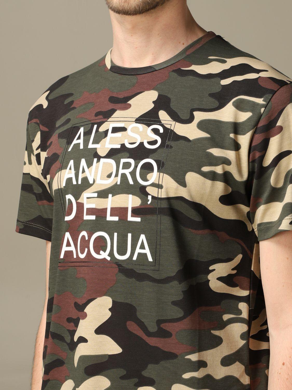Sweater Alessandro Dell'acqua: Alessandro Dell'acqua camouflage t-shirt with logo green 3