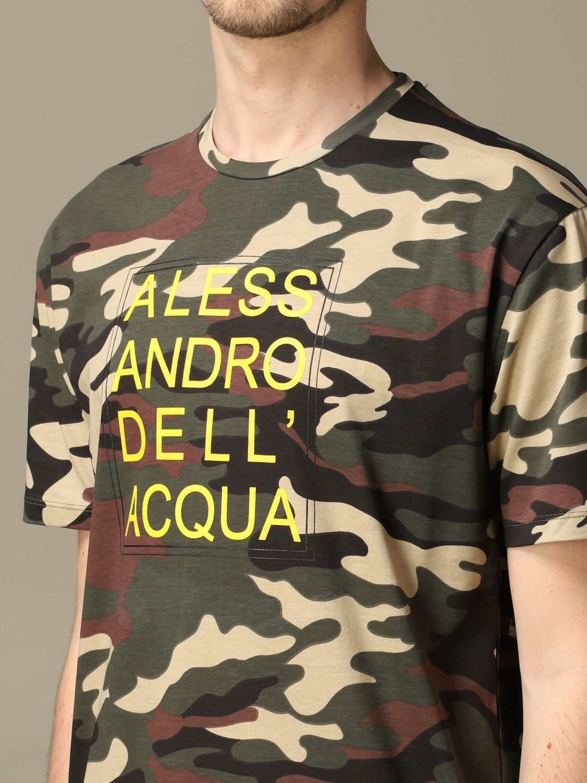 Свитер Alessandro Dell'acqua: Свитер Мужское Alessandro Dell'acqua зеленый 3