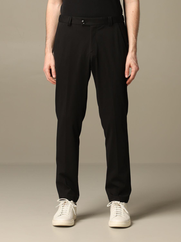 Pants Alessandro Dell'acqua: Alessandro Dell'acqua trousers in cotton blend black 1