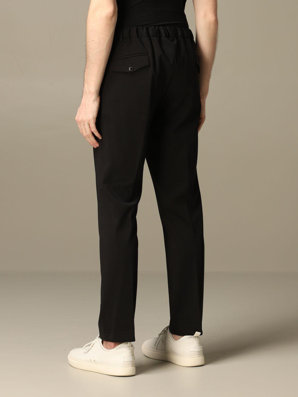Pants Alessandro Dell'acqua: Alessandro Dell'acqua trousers in cotton blend black 2
