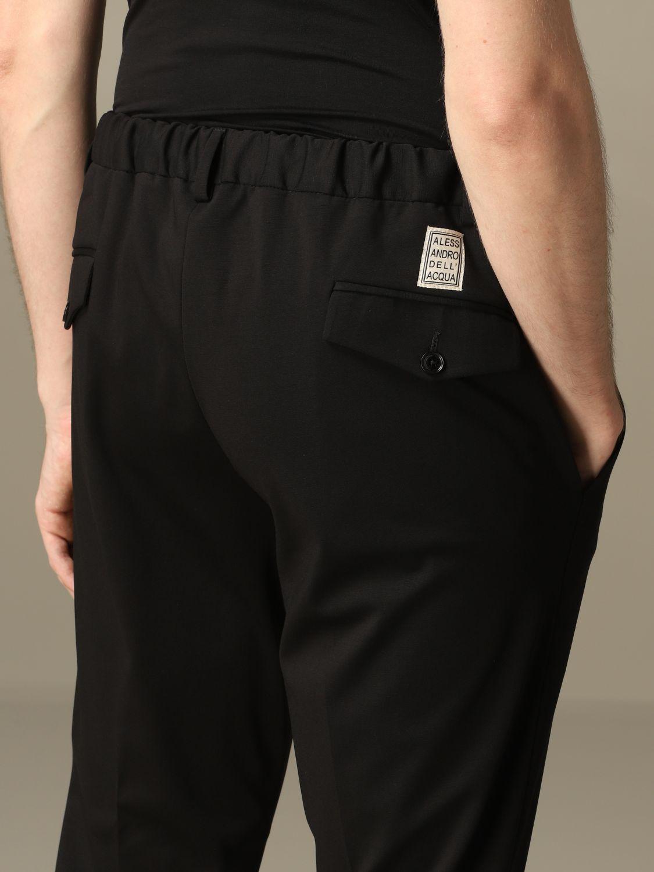 Pants Alessandro Dell'acqua: Alessandro Dell'acqua trousers in cotton blend black 3