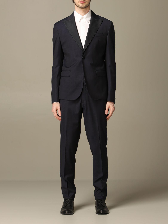 Suit Alessandro Dell'acqua: Alessandro Dell'acqua single breasted suit blue 1
