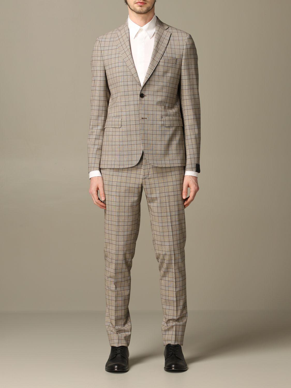 Классический костюм Alessandro Dell'acqua: Классический костюм Мужское Alessandro Dell'acqua бежевый 1
