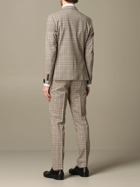 Классический костюм Alessandro Dell'acqua: Классический костюм Мужское Alessandro Dell'acqua бежевый 2