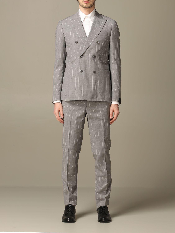 Suit Alessandro Dell'acqua: Suit men Alessandro Dell'acqua grey 1