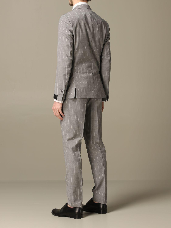 Suit Alessandro Dell'acqua: Suit men Alessandro Dell'acqua grey 2