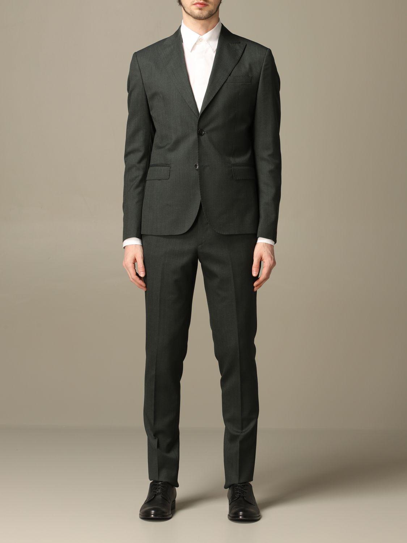 Классический костюм Alessandro Dell'acqua: Классический костюм Мужское Alessandro Dell'acqua зеленый 1