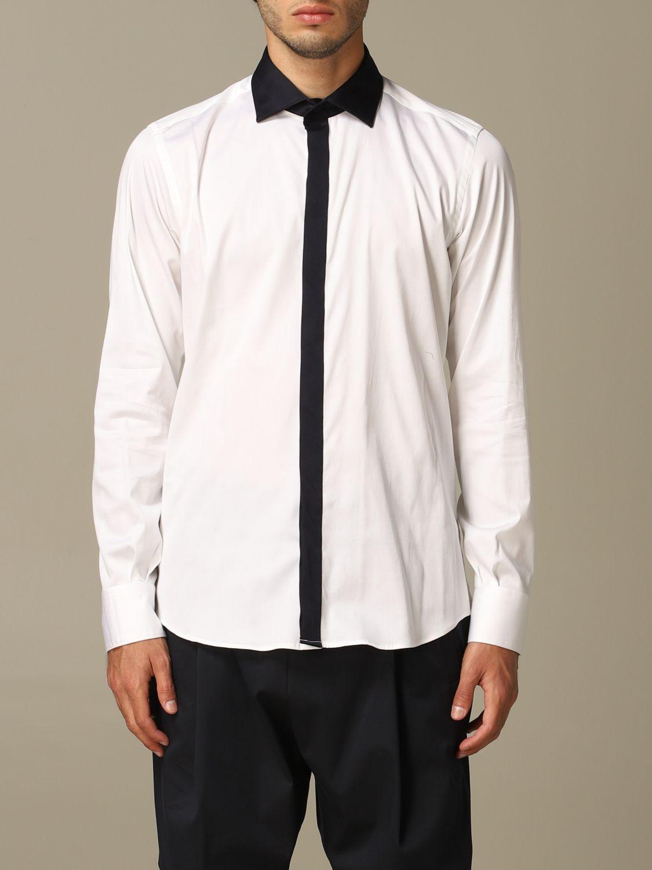 Camicia Alessandro Dell'acqua: Camicia Alessandro Dell'acqua in cotone stretch bianco 1