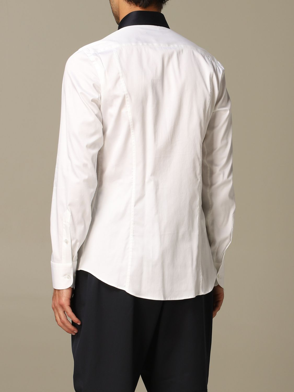 Camicia Alessandro Dell'acqua: Camicia Alessandro Dell'acqua in cotone stretch bianco 2