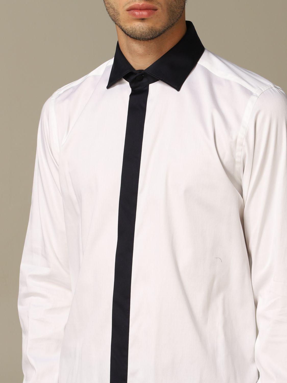 Camicia Alessandro Dell'acqua: Camicia Alessandro Dell'acqua in cotone stretch bianco 3