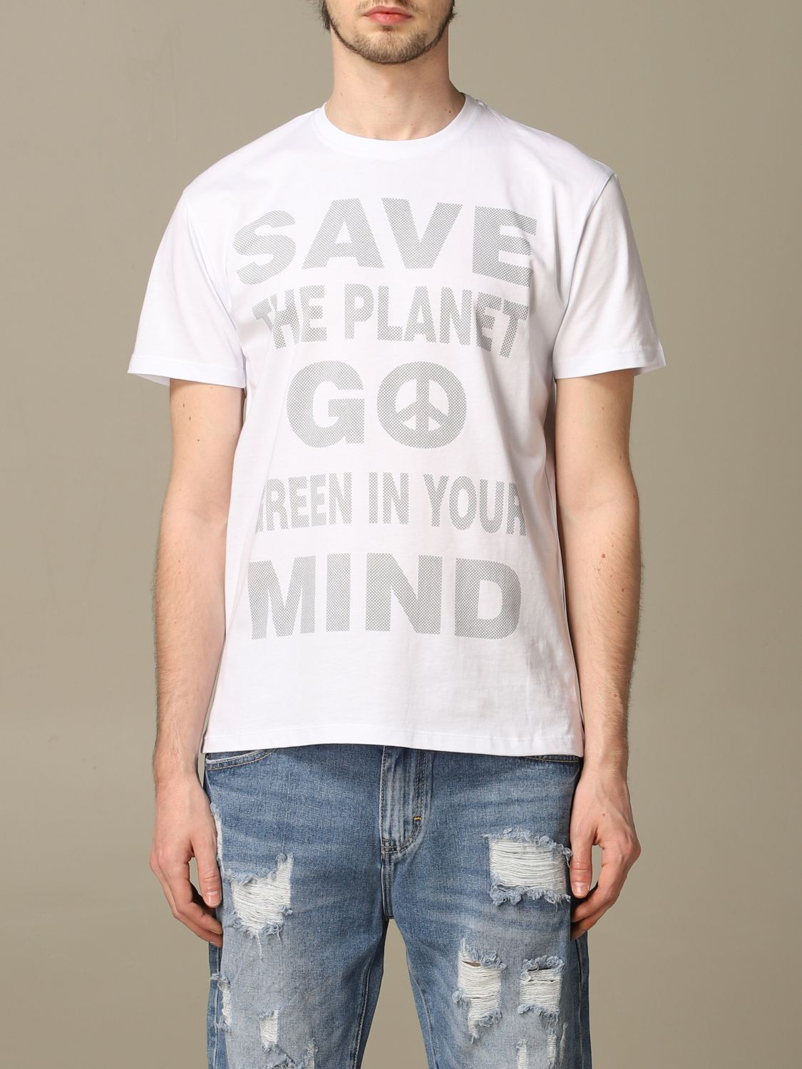 Sweater Alessandro Dell'acqua: Alessandro Dell'acqua t-shirt with writing white 1