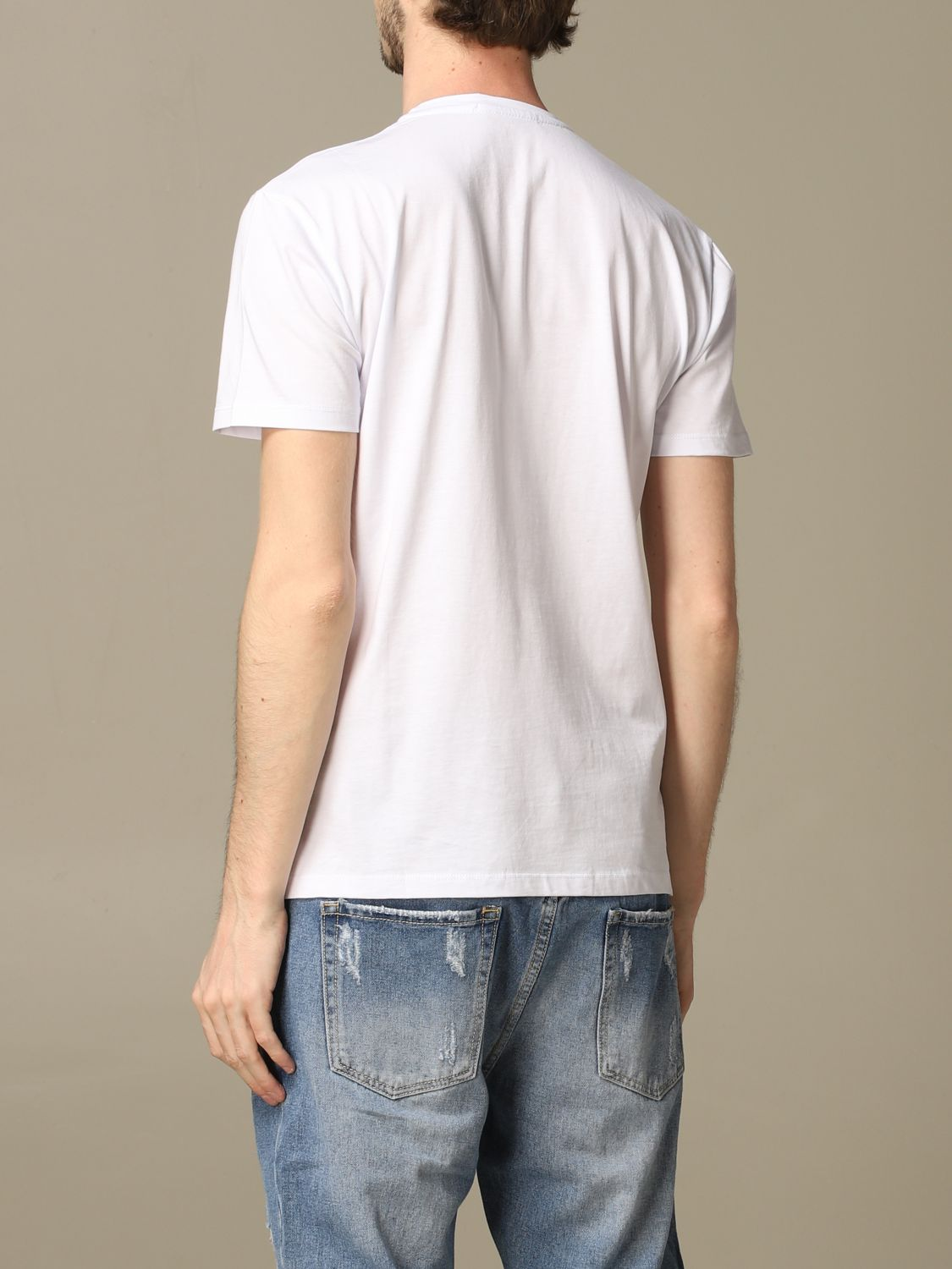 Sweater Alessandro Dell'acqua: Alessandro Dell'acqua t-shirt with writing white 2