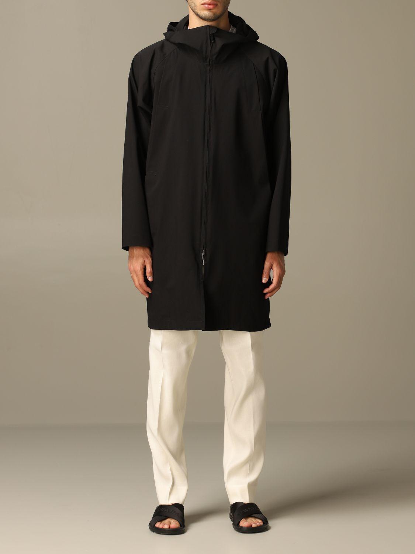 Jacket Alessandro Dell'acqua: Alessandro Dell'acqua sports coat with hood black 1