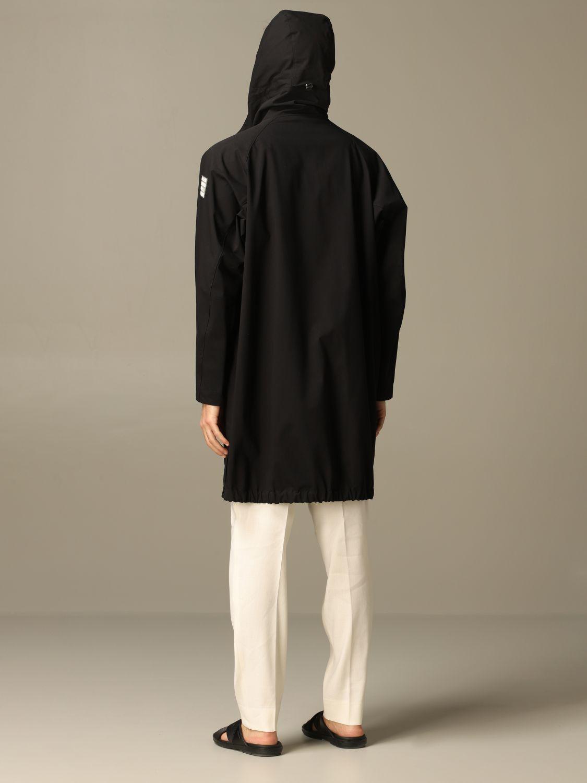 Jacket Alessandro Dell'acqua: Alessandro Dell'acqua sports coat with hood black 2