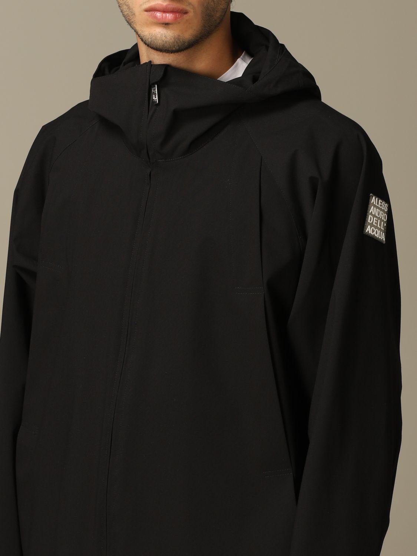 Jacket Alessandro Dell'acqua: Alessandro Dell'acqua sports coat with hood black 3