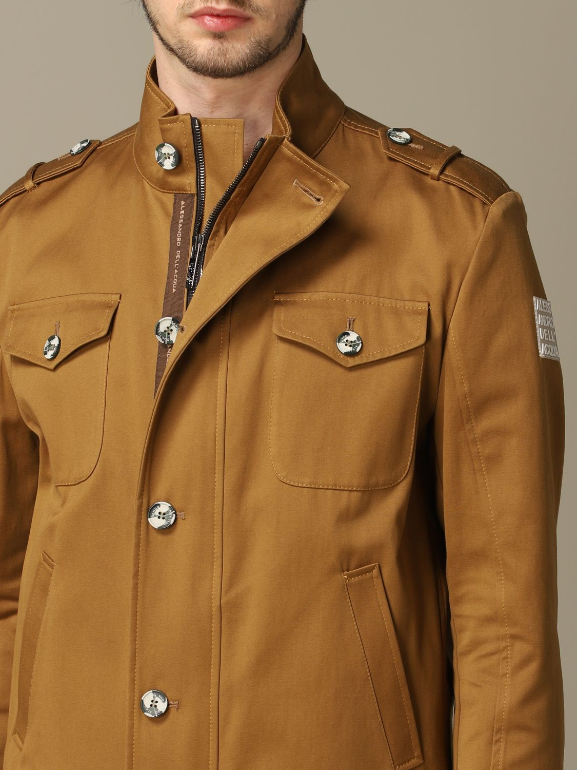 Jacket Alessandro Dell'acqua: Jacket men Alessandro Dell'acqua brown 3