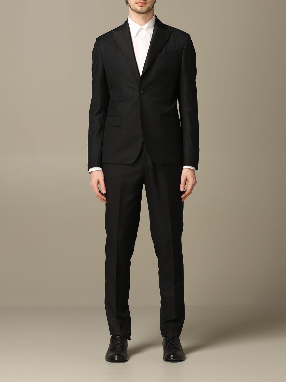 Suit Alessandro Dell'acqua: Alessandro Dell'acqua single breasted suit black 1