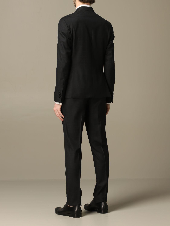 Suit Alessandro Dell'acqua: Alessandro Dell'acqua single breasted suit black 2