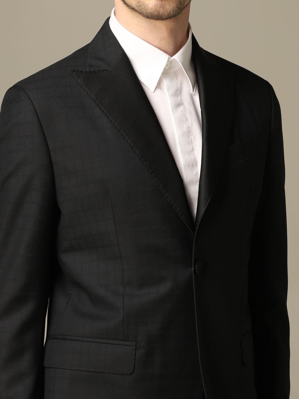 Suit Alessandro Dell'acqua: Alessandro Dell'acqua single breasted suit black 3
